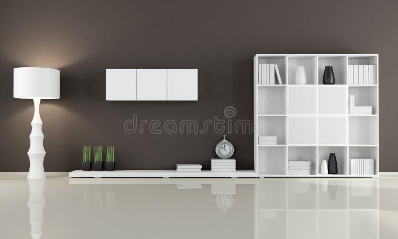 Żywy Brown pokój ilustracji