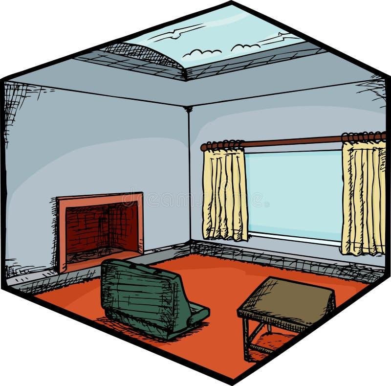 żywy izbowy skylight ilustracji