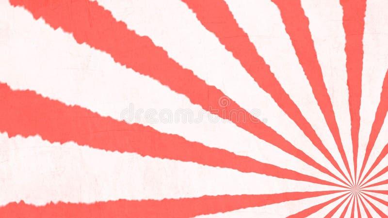 Żywy koral Retro lampasy - kolor rok - ilustracja wektor