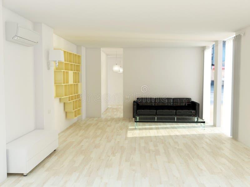 żywy minimalistyczny pokój royalty ilustracja