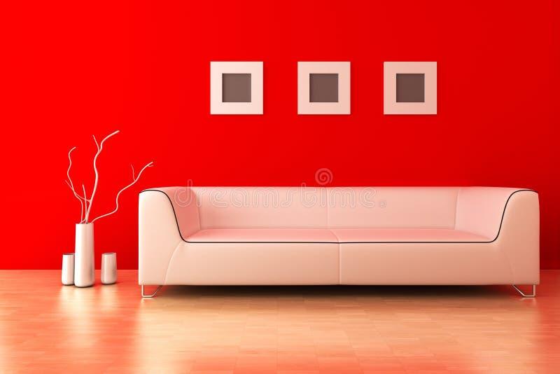 żywy nowożytny pokój ilustracja wektor