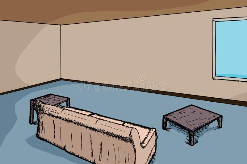 żywy nowożytny pokój ilustracji