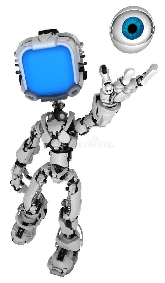 Żywy Parawanowy robot, oko ilustracja wektor
