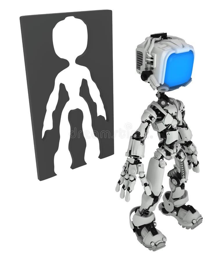 Żywy Parawanowy robot, sylwetki rama ilustracji