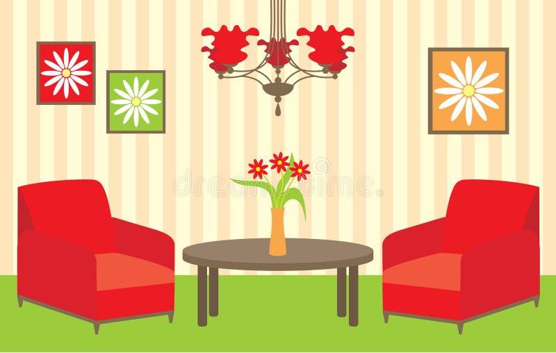 żywy pokój ilustracja wektor