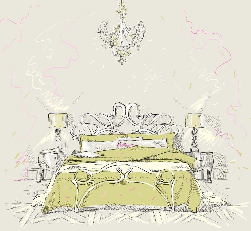 Żywy pokój royalty ilustracja