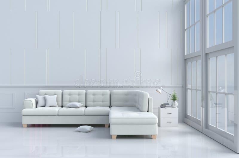 Żywy pokój wewnątrz relaksuje dzień ilustracja wektor