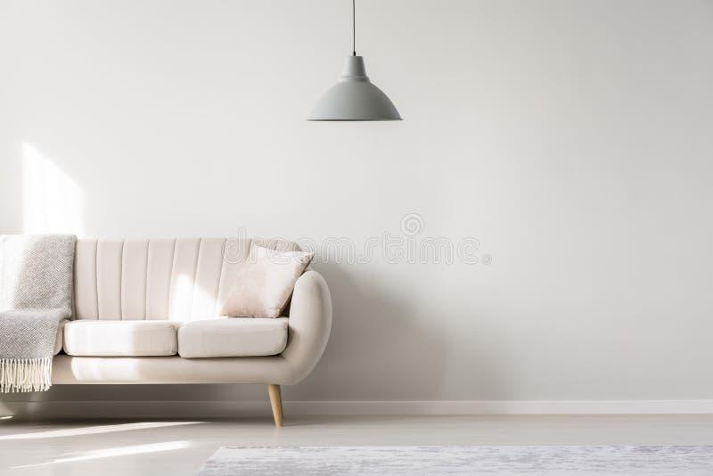 Żywy pokój z kopii przestrzenią ilustracja wektor