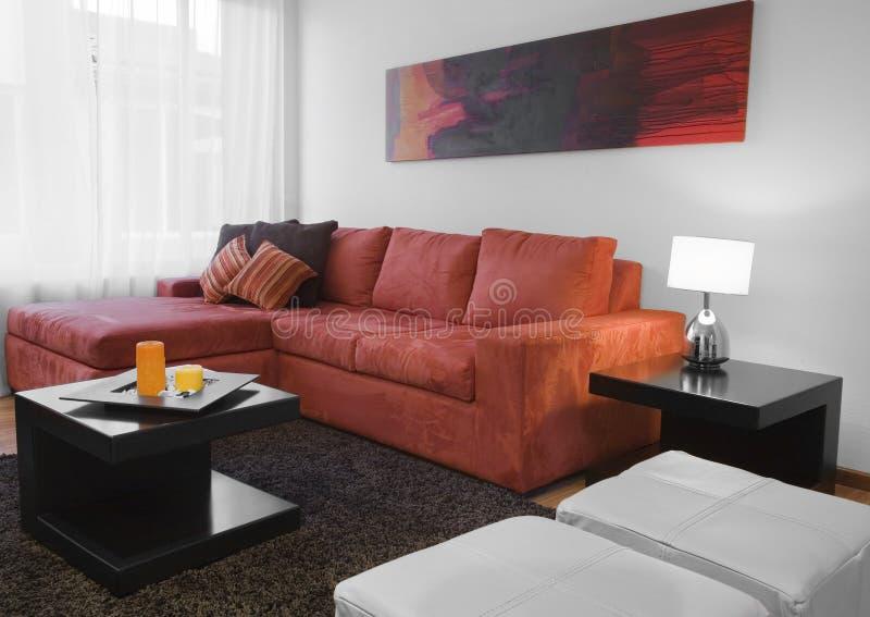 żywy pomarańczowy pokój zdjęcie stock