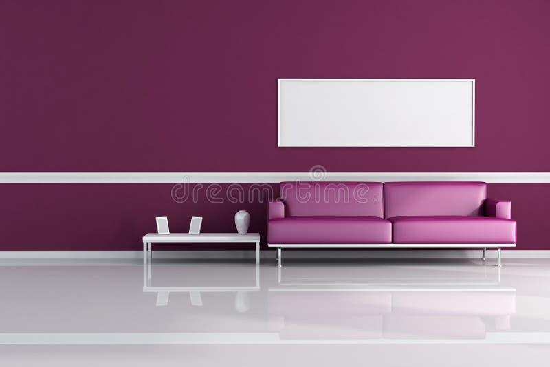 żywy purpurowy pokój royalty ilustracja