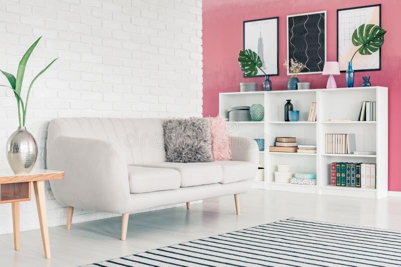żywy różowy pokój obraz royalty free