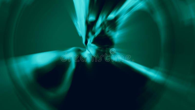 Żywy trup w błękitnym promieniu światło 3D ilustracja w gatunku horror ilustracji