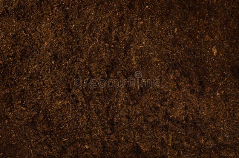 Żyznego ogród ziemi tekstury tła odgórny widok obrazy stock