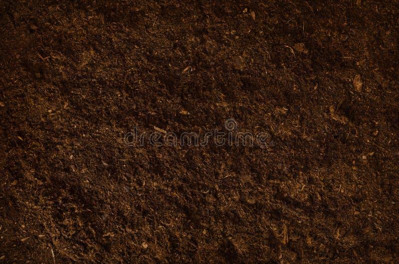 Żyznego ogród ziemi tekstury tła odgórny widok obrazy royalty free