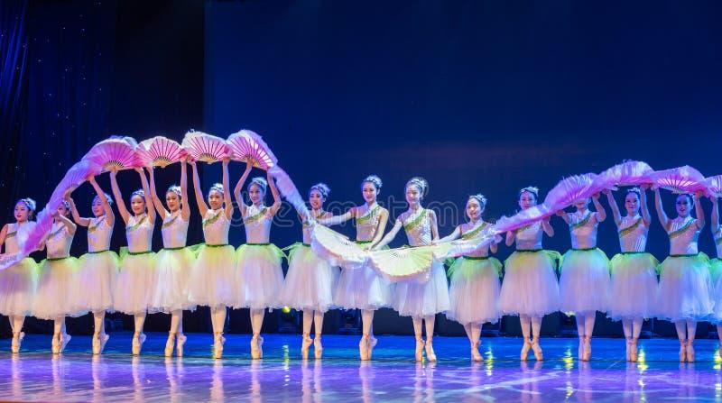 ˆCatch del ¼ de Jasmine Flowersï el ‰ del ¼ de Dragonï - ballet nacional chino fotografía de archivo libre de regalías