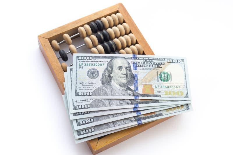 Άβακας με τα δολάρια στοκ φωτογραφία με δικαίωμα ελεύθερης χρήσης
