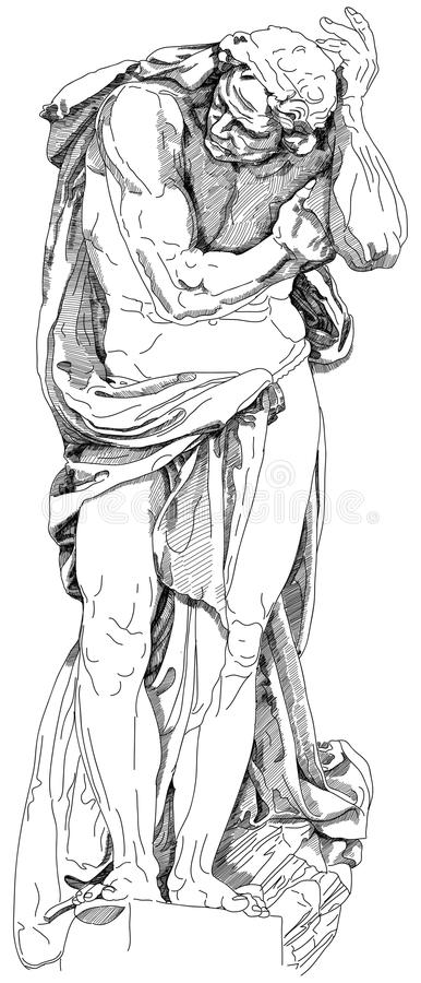 άγαλμα ατόμων απεικόνιση αποθεμάτων