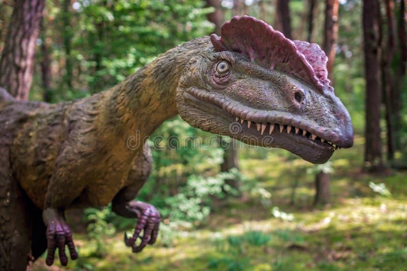 Άγαλμα δεινοσαύρων Allosaurus στοκ εικόνα με δικαίωμα ελεύθερης χρήσης