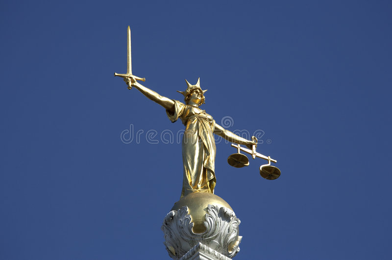 άγαλμα δικαιοσύνης στοκ φωτογραφία