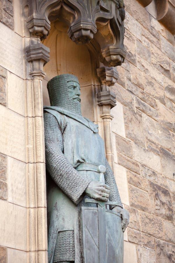 Άγαλμα Εδιμβούργο Castle Σκωτία UK του William Wallace στοκ φωτογραφία με δικαίωμα ελεύθερης χρήσης