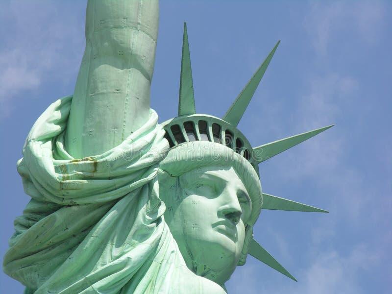 άγαλμα ελευθερίας κινηματογραφήσεων σε πρώτο πλάνο στοκ φωτογραφίες με δικαίωμα ελεύθερης χρήσης
