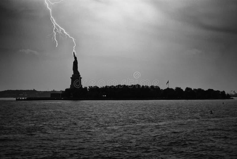 άγαλμα ελευθερίας νησιών της Αμερικής στοκ εικόνα