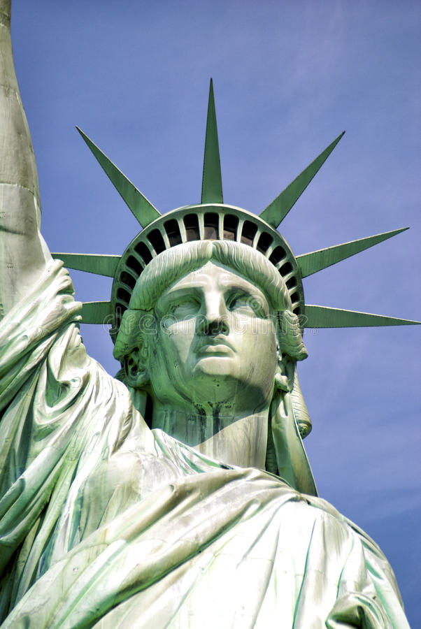 άγαλμα ελευθερίας νησιών της Αμερικής στοκ φωτογραφία