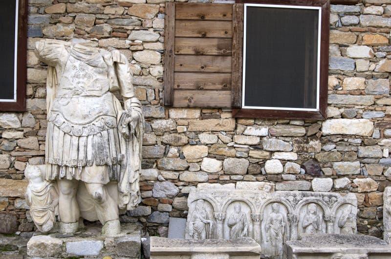 Άγαλμα ενός ατόμου στις καταστροφές της αρχαίας πόλης Aphrodisias, Aydin/Τουρκία στοκ εικόνες με δικαίωμα ελεύθερης χρήσης