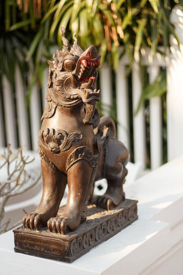 Άγαλμα λιονταριών lanna Singha στη βόρεια Ταϊλάνδη στοκ φωτογραφία με δικαίωμα ελεύθερης χρήσης