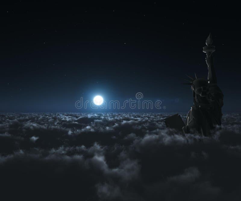 άγαλμα νύχτας στοκ εικόνες