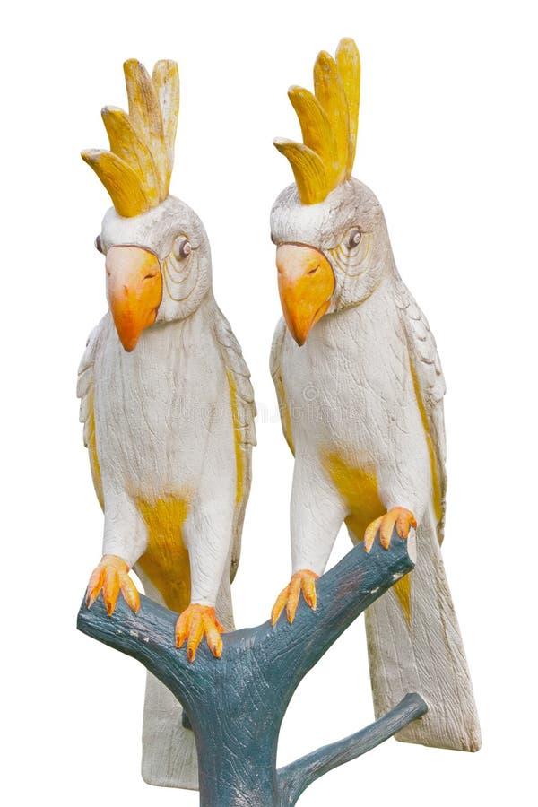 Άγαλμα παπαγάλων σε ένα θέρετρο στοκ εικόνα με δικαίωμα ελεύθερης χρήσης