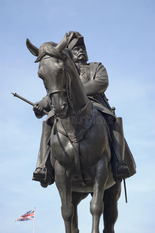 άγαλμα πριγκήπων George δουκών του Καίμπριτζ στοκ φωτογραφίες με δικαίωμα ελεύθερης χρήσης