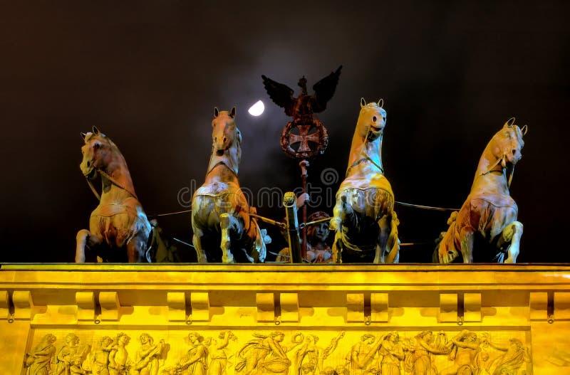 άγαλμα πυλών του Βερολίν&o στοκ εικόνες