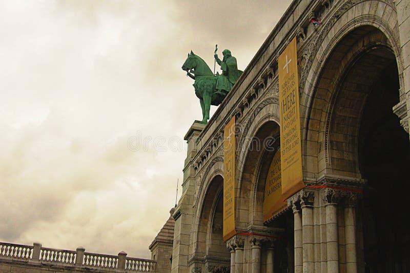 Άγαλμα σιδήρου της οδήγησης αναβατών στοκ φωτογραφία με δικαίωμα ελεύθερης χρήσης