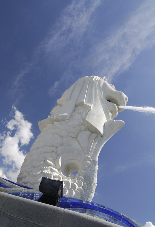 άγαλμα Σινγκαπούρης sentosa merlion στοκ φωτογραφία με δικαίωμα ελεύθερης χρήσης