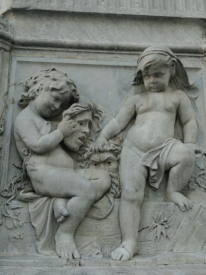 άγαλμα στην πόλη της Μαδρίτης στοκ εικόνες