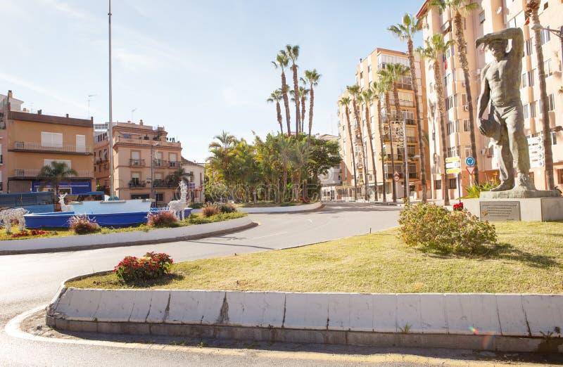 Άγαλμα στην πόλη Almunecar στοκ φωτογραφία με δικαίωμα ελεύθερης χρήσης