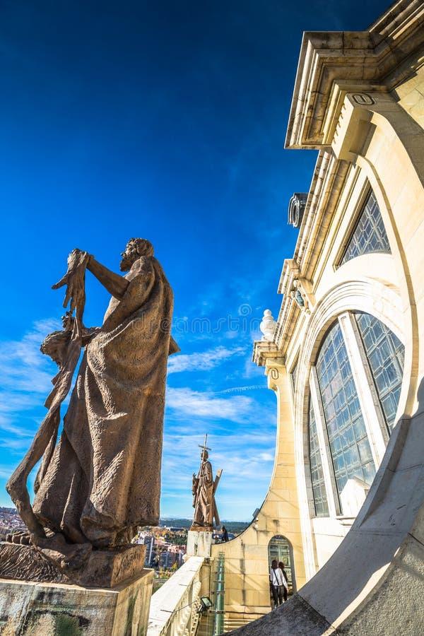 Άγαλμα στον καθεδρικό ναό Αγίου Mary ο βασιλικός του Λα Almudena Madr στοκ φωτογραφία με δικαίωμα ελεύθερης χρήσης