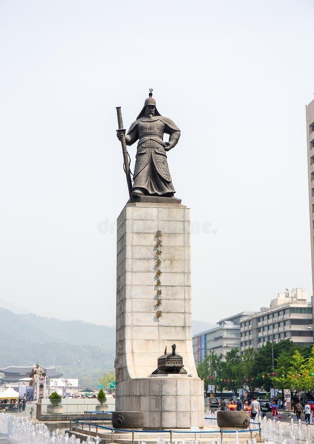Άγαλμα της ήλιος-αμαρτίας Yi ναυάρχων ο μέγιστος μαχητής στοκ εικόνα