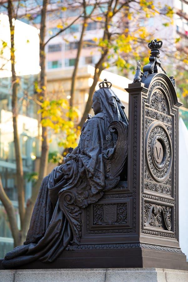 Άγαλμα της βασίλισσας Victoria στο Χονγκ Κονγκ στοκ φωτογραφία