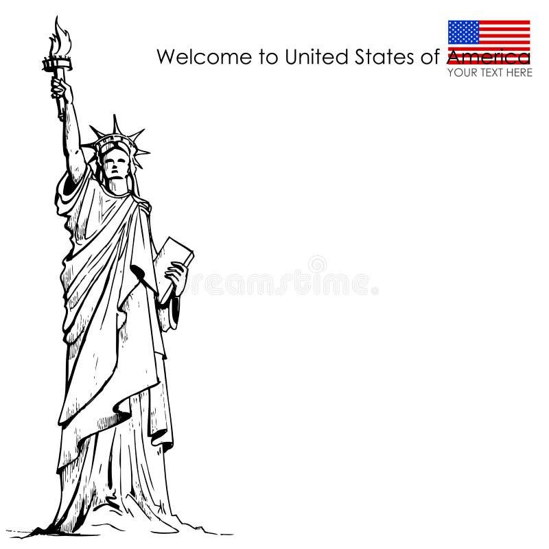 Άγαλμα της ελευθερίας διανυσματική απεικόνιση