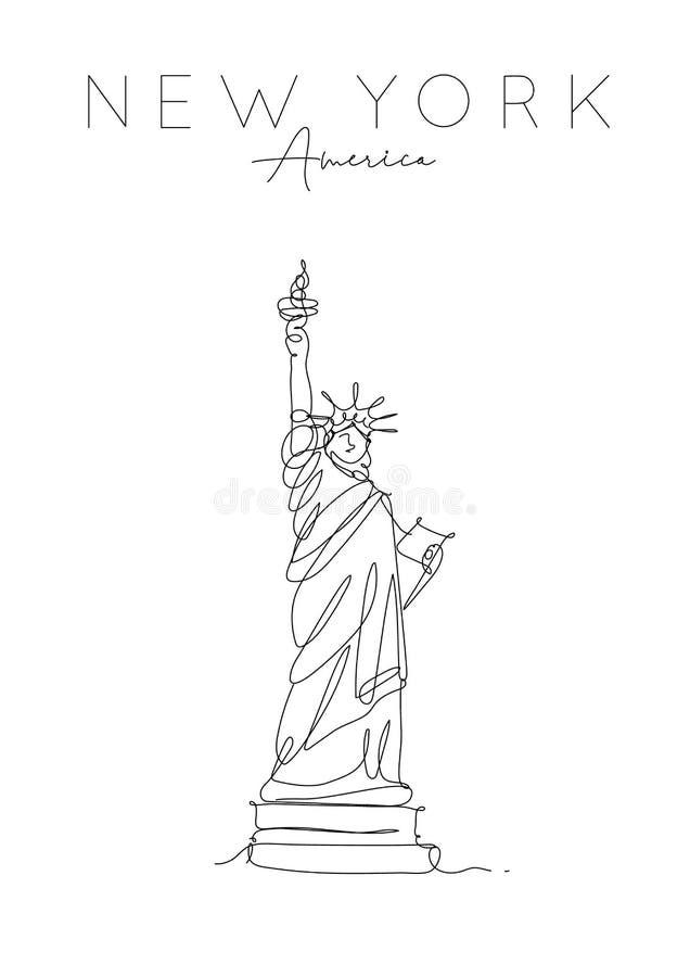 Άγαλμα της Νέας Υόρκης αφισών της ελευθερίας ελεύθερη απεικόνιση δικαιώματος