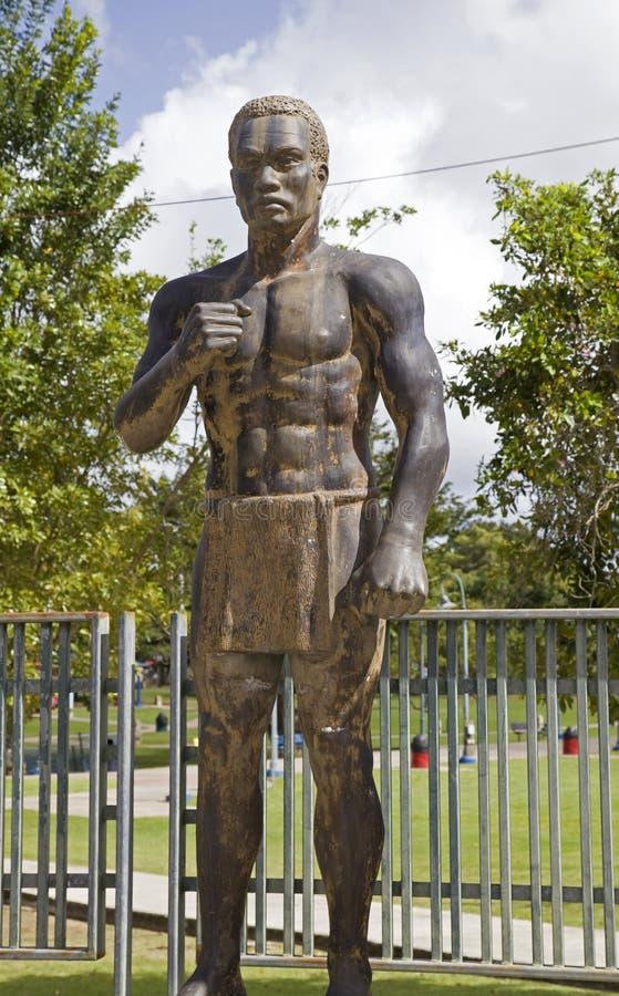 Άγαλμα του αφρικανικού σκλάβου που δημιουργείται σε Bayamon Πουέρτο Ρίκο στοκ εικόνες