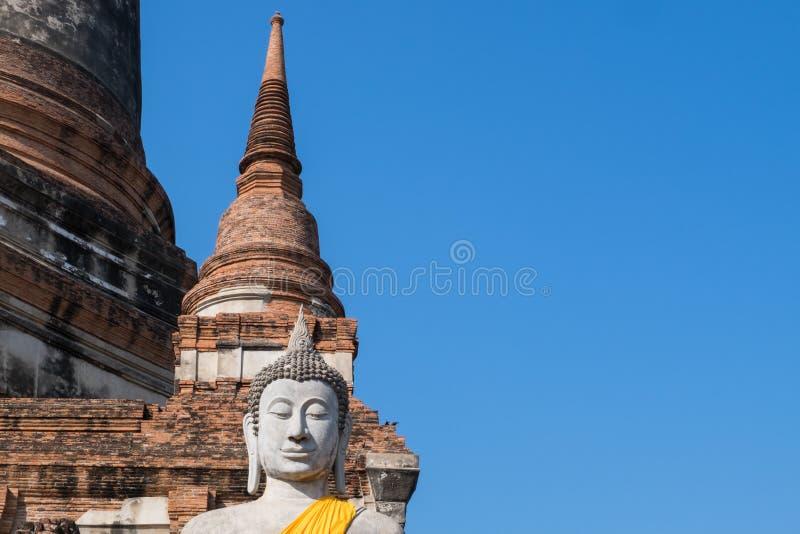 Άγαλμα του Βούδα σε Wat Yai Chai Mongkhon, το ιστορικό πάρκο του Α στοκ εικόνα