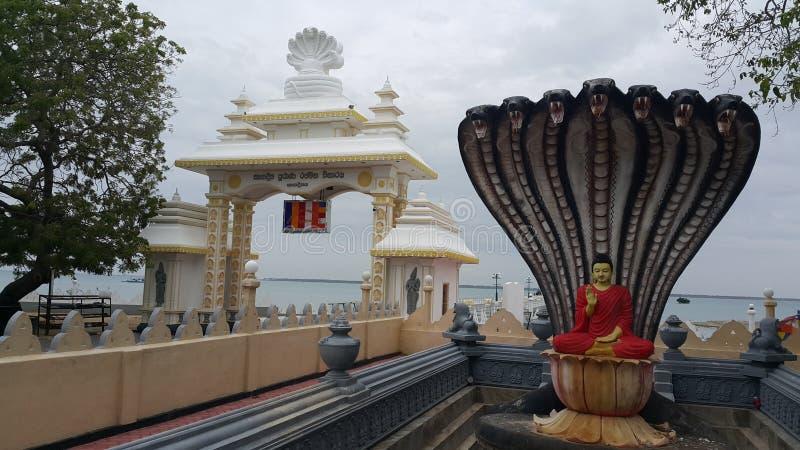 Άγαλμα του Βούδα στη Ναγκαβεβαία Ραμάχα Βιχαράγια στοκ εικόνα με δικαίωμα ελεύθερης χρήσης