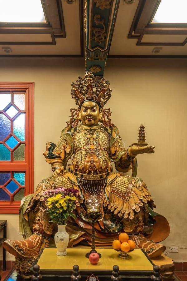 Άγαλμα του βόρειου θεϊκού βασιλιά Po Lin στο βουδιστικό μοναστήρι, Χονγκ Κονγκ Κίνα στοκ φωτογραφίες με δικαίωμα ελεύθερης χρήσης