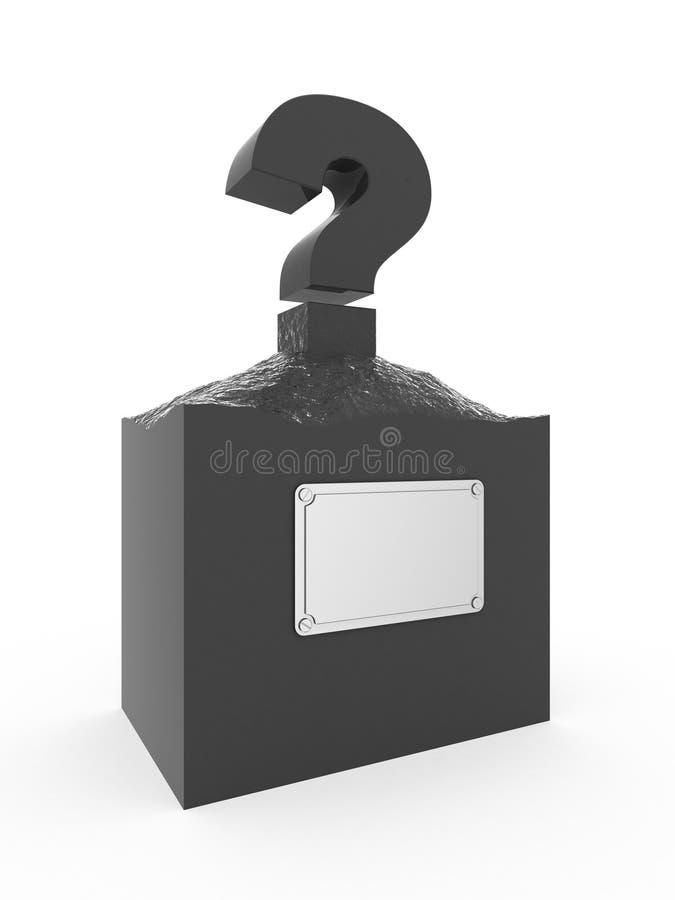 Άγαλμα του ερωτηματικού. στοκ φωτογραφίες με δικαίωμα ελεύθερης χρήσης