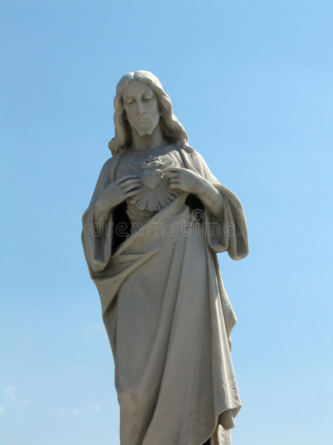άγαλμα του Ιησού στοκ φωτογραφίες