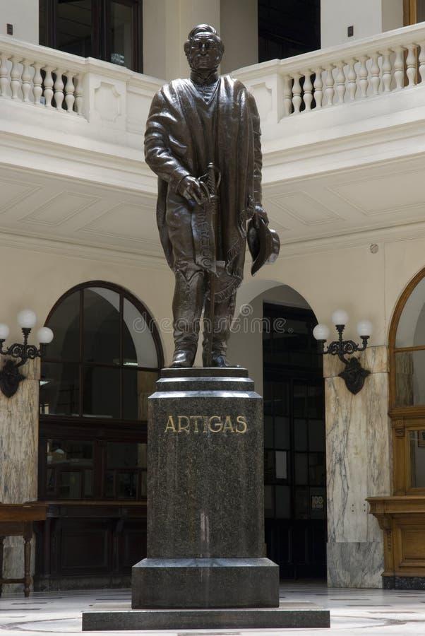 άγαλμα του Μοντεβίδεο s artig στοκ φωτογραφία