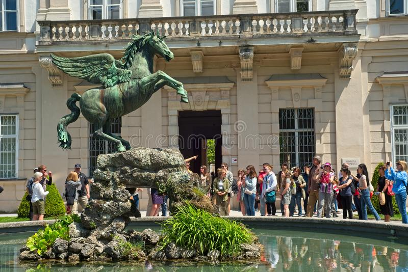 Άγαλμα του Σάλτζμπουργκ Αυστρία Pegasus στοκ φωτογραφίες με δικαίωμα ελεύθερης χρήσης